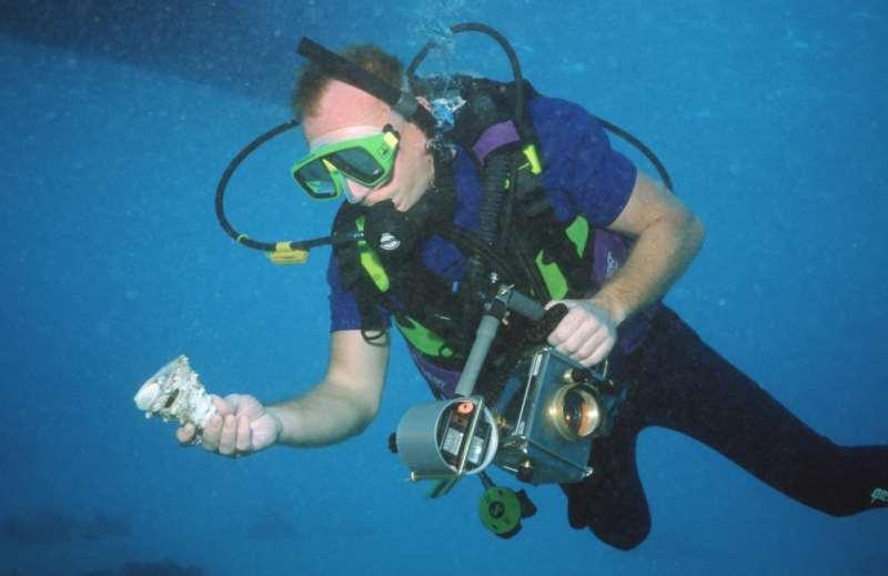 Analoge Kamera mit Eigenbau Gehäuse für Unterwasser
